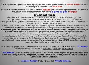Cricket nel Mondo