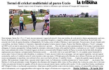 Tornei di cricket multietnici al parco Uccio
