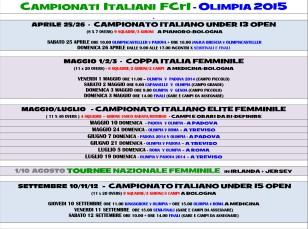 Calendario FCrI Olimpia 2015