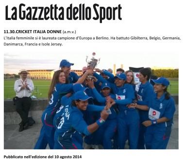2014.08 La Gazzetta dello Sport