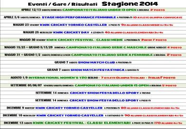 2014 Calendario Eventi Olimpia5